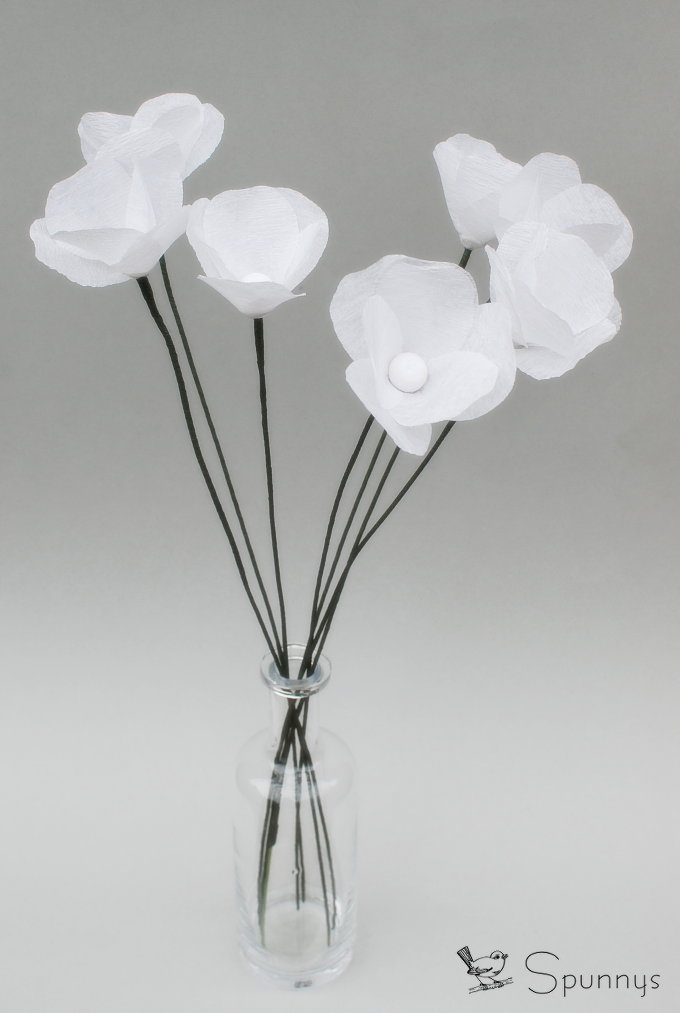 how to make stamens paper flower 4