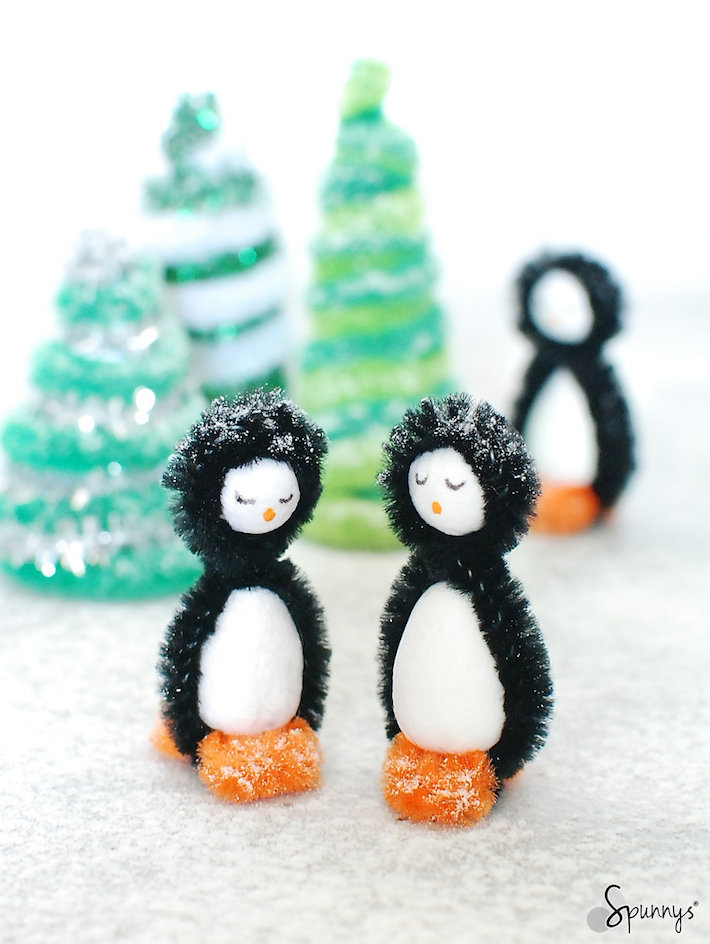 pipe cleaner penguins tutorial