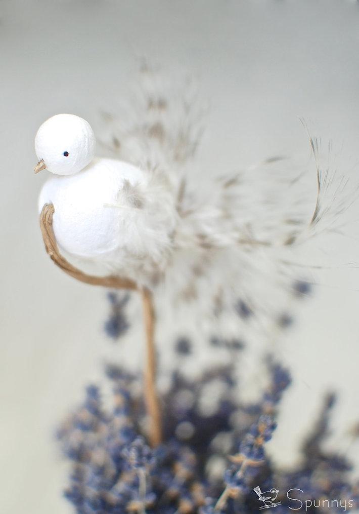 spun cotton bird step by step tutorial