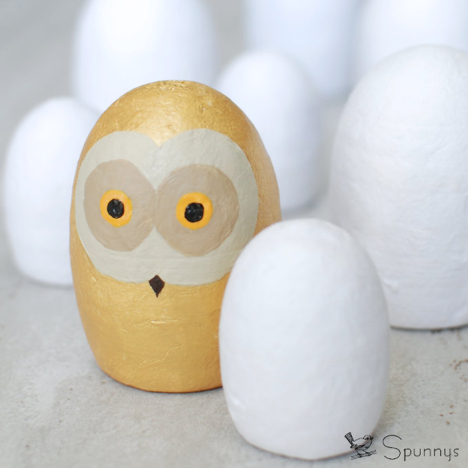 Owl figurine DIY