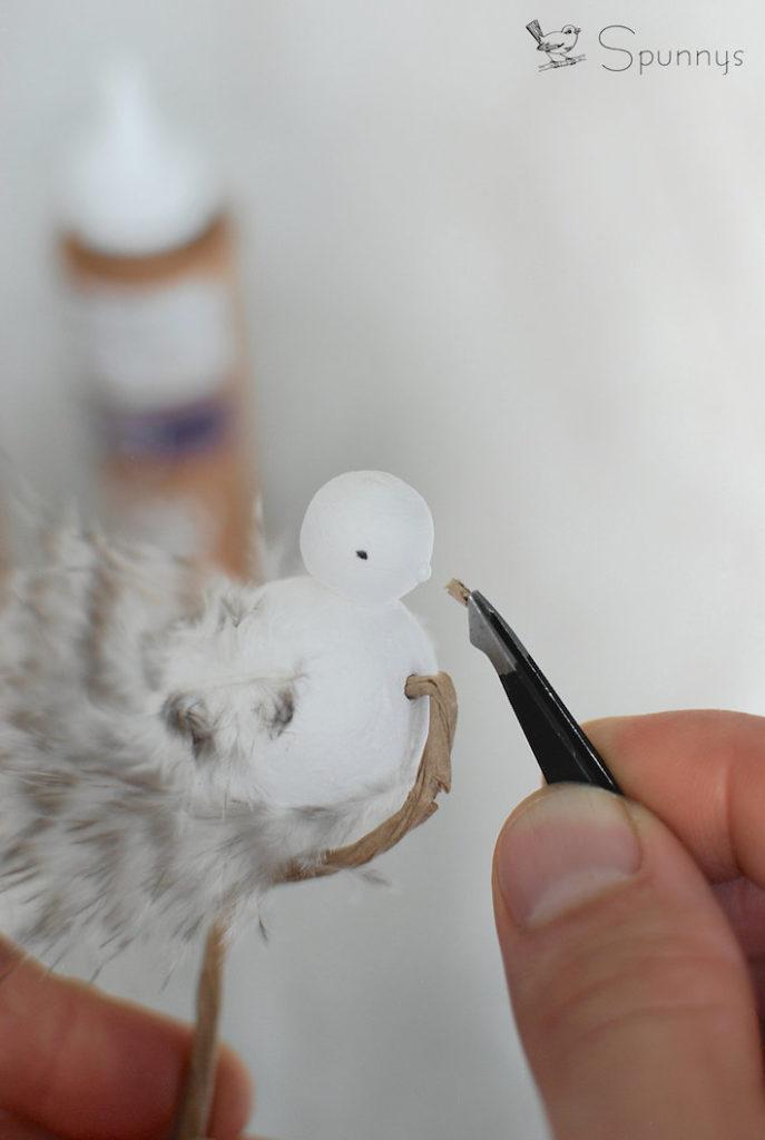 beautiful bird ornament with feathers craft idea
