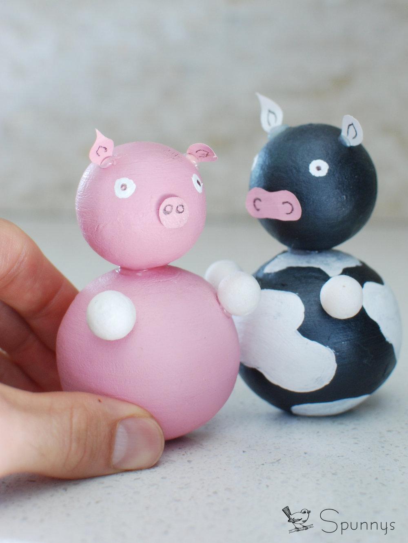 DIY cow piggy farm animal figurines