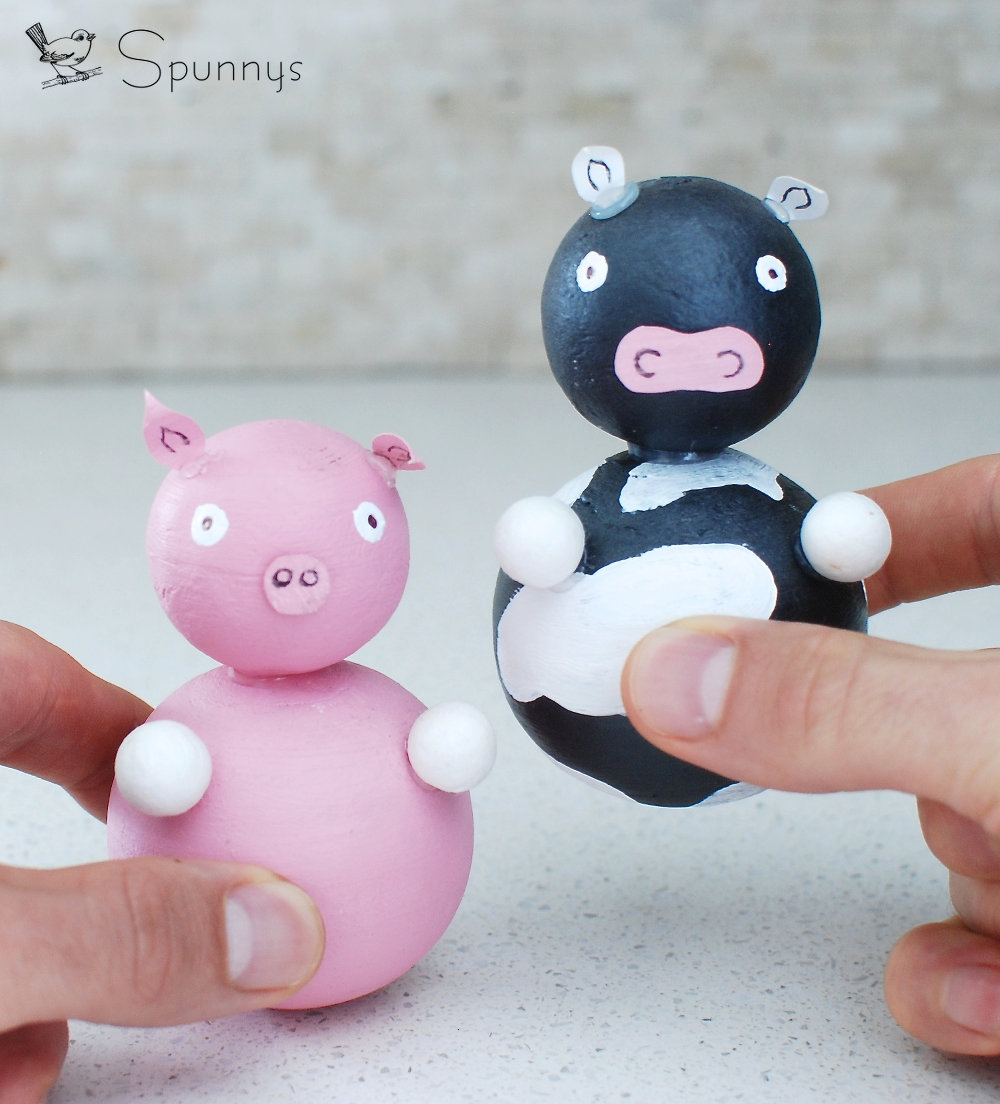DIY farm animal figures