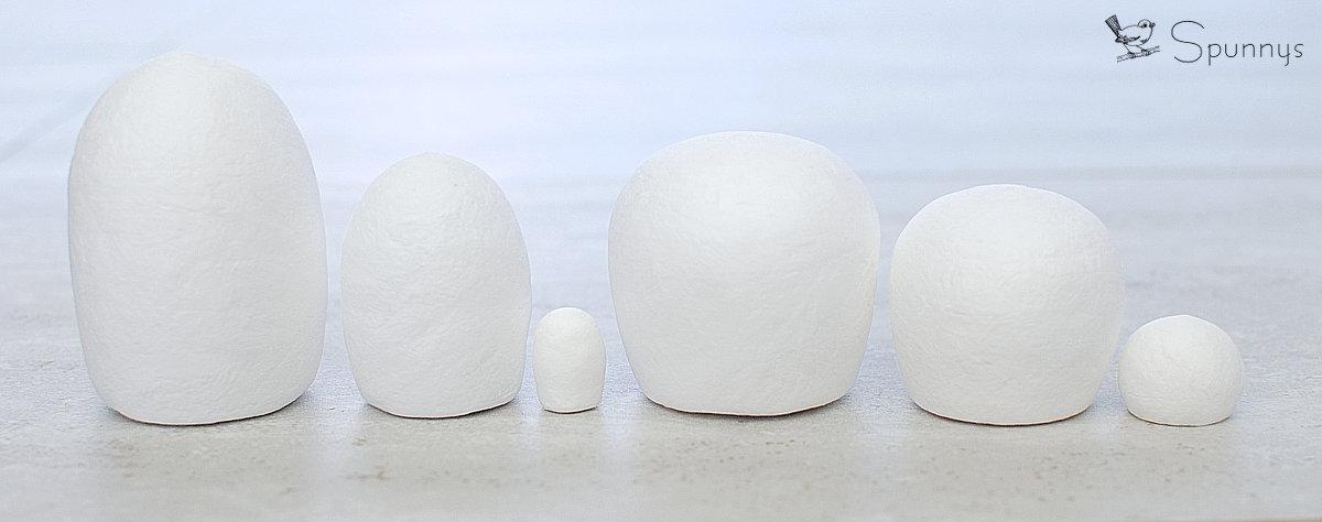 Kokeshi blank bodies spun cotton