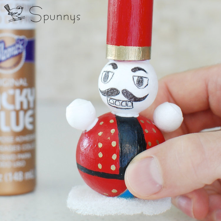 Nutcracker DIY tutorial craft idea ornament