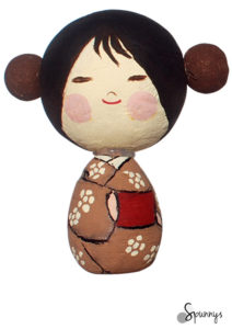 kokeshi doll DIY idea 2