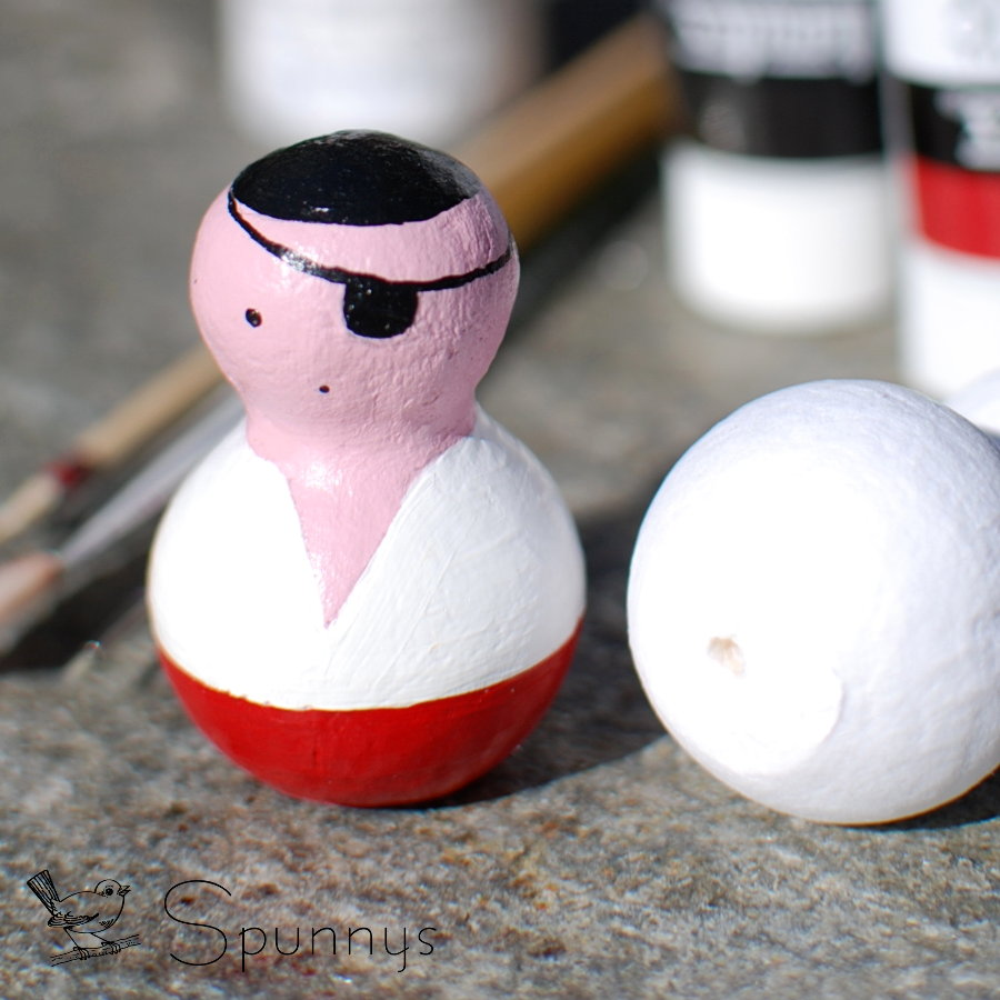 pirate peg doll DIY tutorial