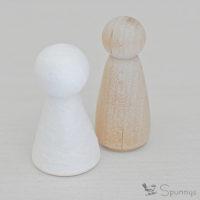 wooden peg doll vs spun cotton