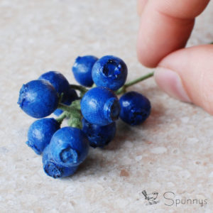 Spun cotton blueberries berries DIY how to