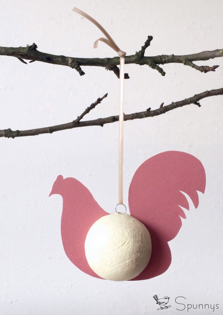 Vintage Chicken ornament spun cotton DIY
