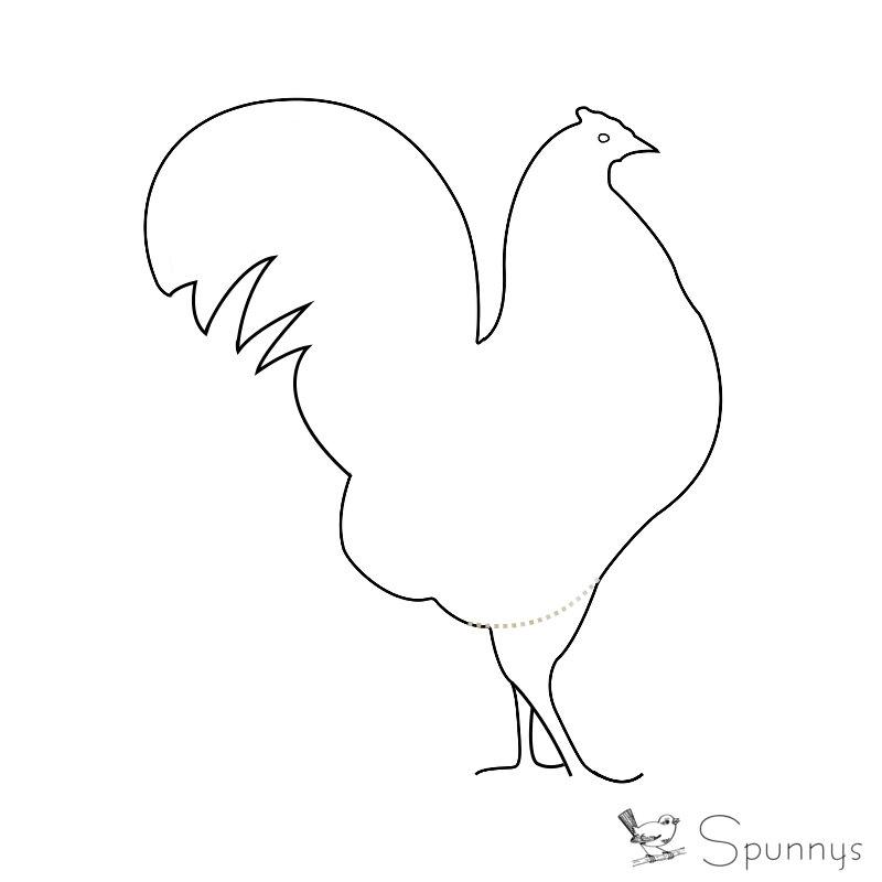 chicken ornament outline