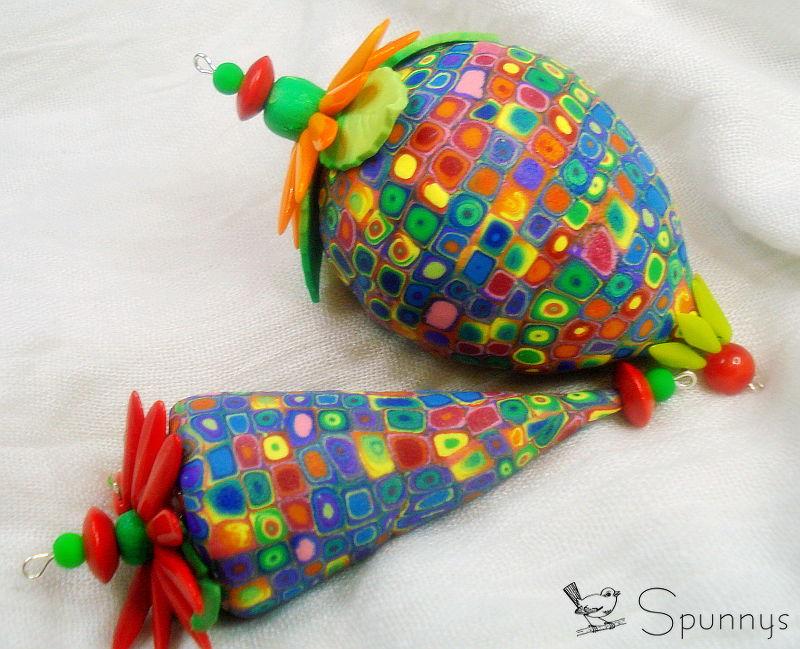 colorful polymer clay ornaments DIY