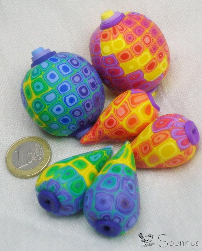 polymer clay beads DIY tutorial