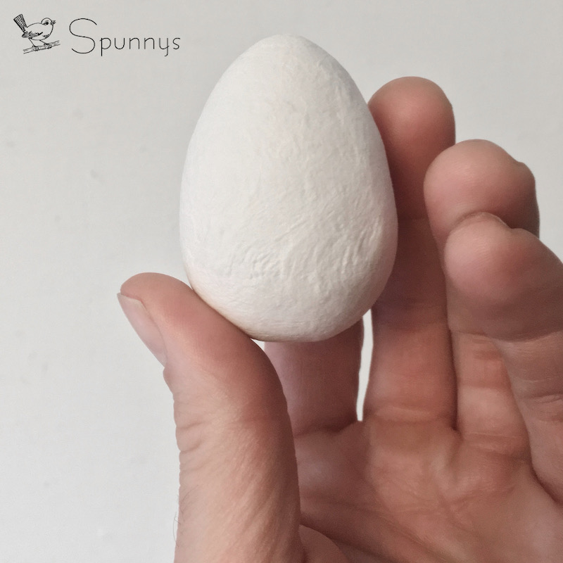 60mm spun cotton egg