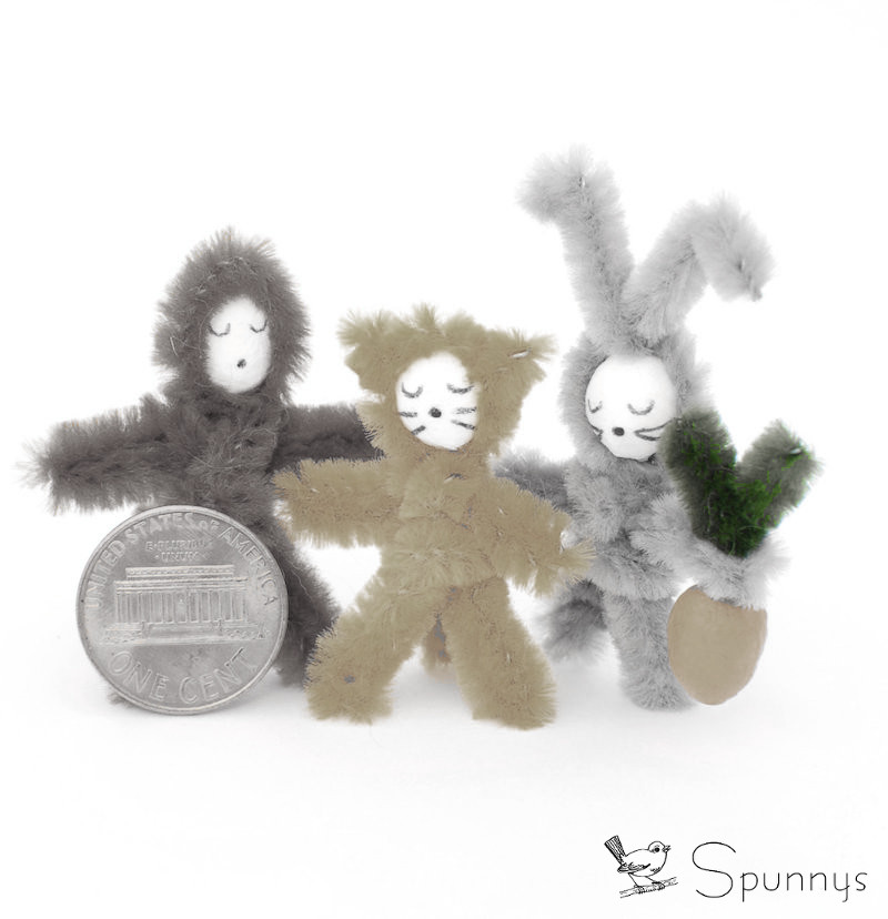 Spun cotton ball project idea - small animals