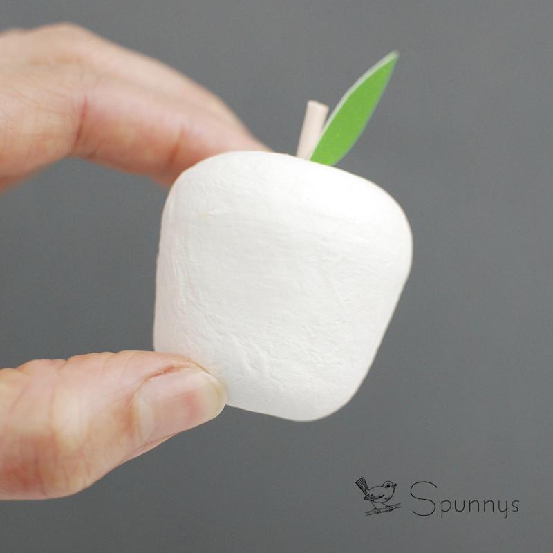 Spun cotton apple