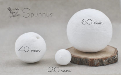 Spun Cotton Balls diameter 20 40 60