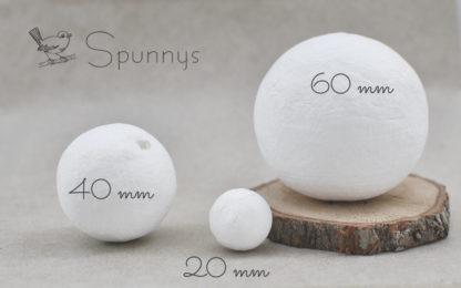 Spun Cotton Balls diameter 20 40 60