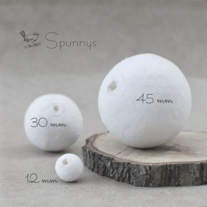 Spun cotton balls diameter 12 30 45