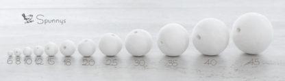 Spun cotton balls sizes