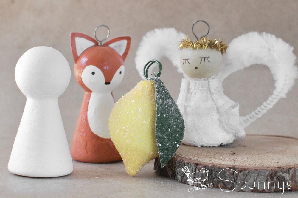 Spun cotton ornaments - how to make