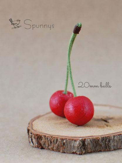 Cherry ornaments DIY spun cotton