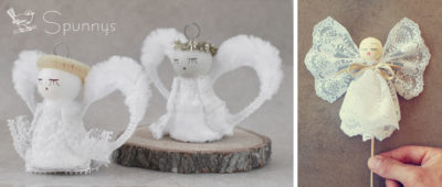 Vintage angel ornaments DIY tutorials