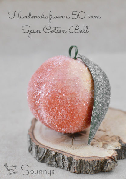 Glittered Peach Ornament