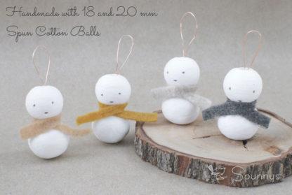 Décoration bonhomme de neige miniature DIY tuto