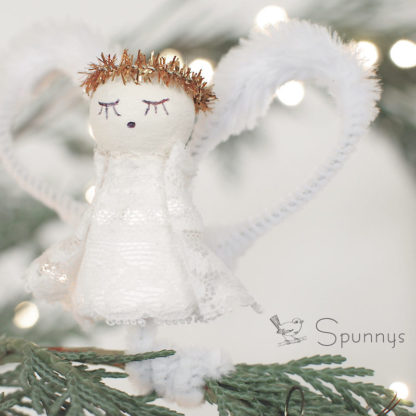 Vintage Angel Ornament Spun Cotton DIY