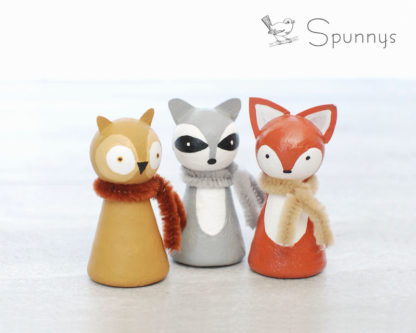 Woodland Animals Peg Dolls Crafts