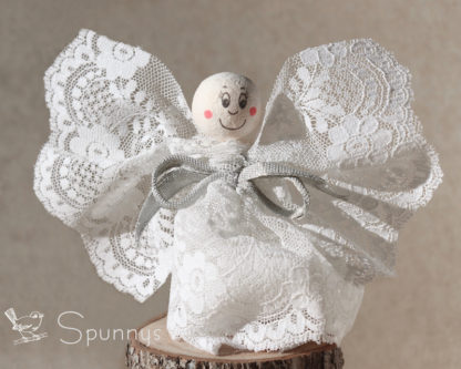 Spun cotton head 25 mm angel ornament