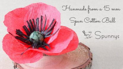crepe paper flower red poppy SPUNNYS